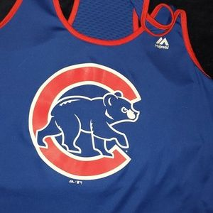 Chicago Cubs Majestic Tank XL